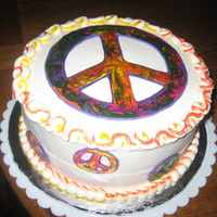 Peace Sign Cake I made this cake for a friend's daughter's 18th birthday. I think peace signs are the in thing for girls now. The peace signs are...