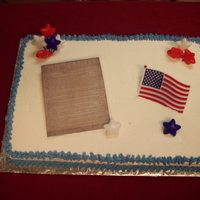 Constitution Cake This was for my son's government class on Constitution day.