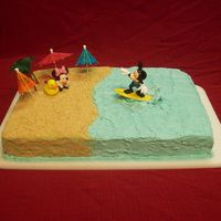 Playhouse Disney This was a simply cake using the cake topers from the cake store. The cake is covered in buttercream and crushed Graham crackers.