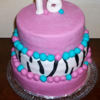 Ashley's 18Th Birthday Cake