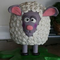 Baah Baah! Sheep! Fun cake to put together! Weighs a LOT when done :) Decorating took about 5 hours the first time.