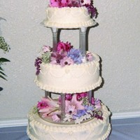 1St Tiered Cake  This was my first tiered wedding cake years ago. A freebie for my brother in laws wedding. They were only married for 3 days & got an...
