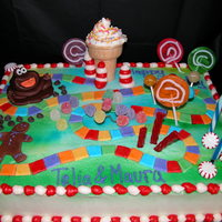 Candy Land Butter cream with MMF path, gingerbread guy and fudgy. Candy filled! Thanks to all who post their wonderful work and ideas. I search here...