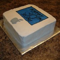Third Official Cake For My Brothers Birthday He is a macintosh computer geek so I thought this would be fitting!