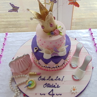 Fancy Nancy For Olivia This Fancy Nancy cake was made for a 4th birthday. The cake is buttercream with fondant accents. The butterflies are royal icing and the...