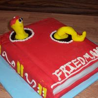 Bookworm   Book worm cake I did for my local library