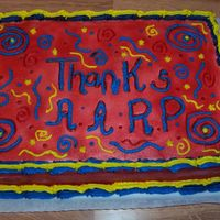 Thank You Cake Made this cake for my local library that had the AARP helping with taxes for people. They all seemed to enjoy. Thanks for looking.