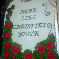 "Christie's 40Th Requested by her ""friend"" She loved it. Chocolate with vanilla"