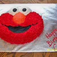Friend's Son's B-Day Cake 1 Of 2 Elmo done with Wilton's Elmo cake pan