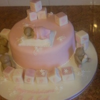 Blocks And Bears Chocolate sponge covered with fondant. Bears and blocks made out of fondant.