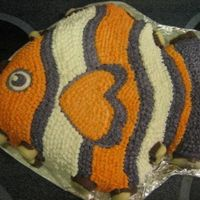 "Tropical Fish Cake This cake was made for my Mom's (Grammy) birthday. She was visiting us from Ireland and wanted a ""Nemo"" birthday. She and my..."