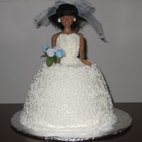 Bride Cake This was my second ride cake, done for a co-worker. I'm making this cake again next week for a co-worker's daughter.