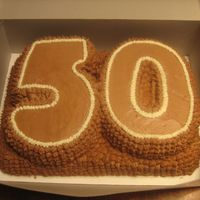 Happy 50Th Birthday! Chocolate fudge cake with chocolate buttercream.