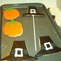 Thanksgiving Cookies (Pilgrim Hats And Pupmkins) NFSC with fondant and royal icing.