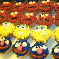 More Sesame Street Cupcakes Made these for my great-nephews birthday party.
