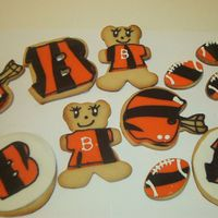 Cincinnati Bengals Cookies These went with the Bengals cake I made for my son.
