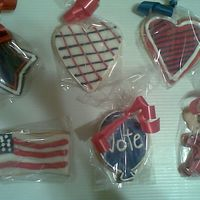 Election Day Cookies Made these for my sister's job.
