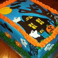 Haunted Halloween Cake