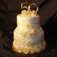 50 Anniversary Cake  This is a cake I finished today. It is a 2 tier marble cake with buttercream dream and royal icing. I got a lot of inspiration from...