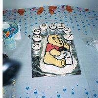 Pooh Bear Birthday Cake b-day cake for my dd's 2nd bday. pooh bear, lost insert page and without a group like this, I did the best I could ... lolThe original...