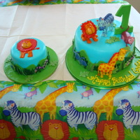 Jungle Animals Designed to match! All done in mmf with a matching smash cake for a first birthday! Thanks for looking!