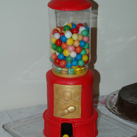 Bubble Gum Machine For Aurea Pound cake covered with MMF. Plastic jar filled with real bubblegum balls. It was a huge success! Nobody realized it was a cake!If anyone...