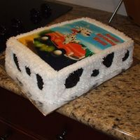 "Dalmation Birthday Cake Birthday cake for 4 year old boy. He asked for a dalmation cake, and he also loves firetrucks! Buttercream icing with edible image. ""..."