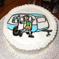 Man With Camper Did this cake for my Dad for Father's Day. He and my Mom go camping almost every other weekend! This was my first FBCT. As you can see...