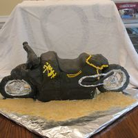 "Busa Busa bike as a grooms cake served at rehearsal dinner. Served 65 people- this is much harder to do ""larger"" than I thought it..."