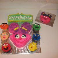 Abby Cadabby   This is a 1st Birthday Abby Cadabby themed cake. TFL