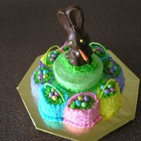 Easter_Basket_Cake.jpg Yellow sour cream cake with chocolate mousse filling. Buttercream icing; jelly beans.