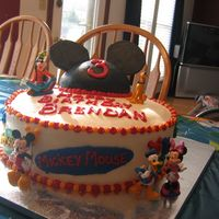 Mickey Mouse Clubhouse Cake Hi all- this was for my son's 3rd birthday. All the decorations are buttercream except the figurines which are from the Disney store....
