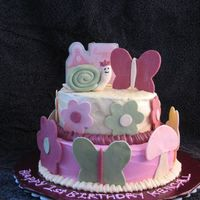Kendall's Second 1St Birthday Cake I made this when we went home for her party. It's supposed to look like her room decor however I didn't have any pictures to go...