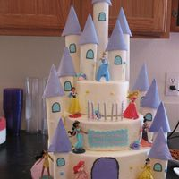 Disney Princess Did this for my nieces 7th birthday. The middle tier is cake, the top and bottom are dummies. Inspired by the many different princess cakes...