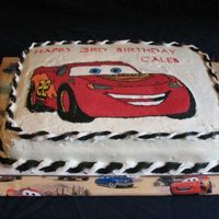 Lightning Mcqueen The last fbct I'll ever do! I love chocolate transfers. Got the idea from another cc'er will come back to give props later =D