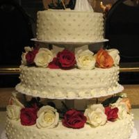 2Nd Wedding Cake I flew from Oregon to Ohio to make this for my sister. It looked better before it sat in the hotel room for hours. I was also a bridesmaid...