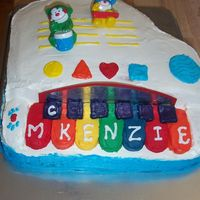 Kenzie's Birthday Piano   This was my very first attempt at a 3D cake. Made for my God Daughter, this was her favorite toy at the time...