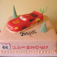 Lightning Mcqueen I made this cake for my little Angel's 4th Birthday and it was a total hit! Ka-Chow!