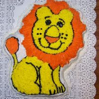 Lion Cake I made this cake for my SILs last day of teachering for the summer party.