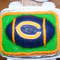 Chicago Bears I made this cake for a going away party. The chicago bears logo is a FBCT. The foot ball went on a little crooked. But other than that I...