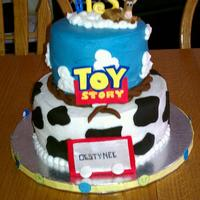 Toy Story Totally copied from kris711! Thanks! All buttercream except for the accents. I made everything except Woody.