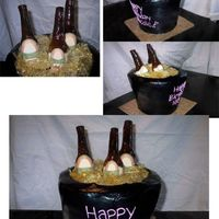 Beer Cake I made this cake for one of my sisters friends. I ran into a few problems with the bottles, but when i finally figured it out it was very...