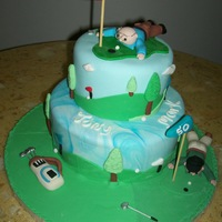 Golf Theme Cake   all fondant