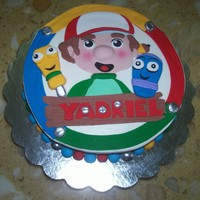 Handy Manny Cake Buttercream with fondant decoration