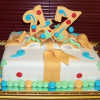 47Th Birthday Cake all fondant