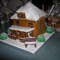 Ginger Bread House Made as a raffle prize for my sons school, had a few problems with the roof but it all a success!