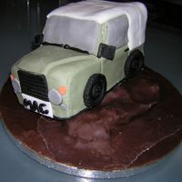 Land Rover 4X4 Cake This was really fun to make and I was so pleased with the result