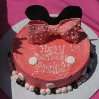 Brinkley's Smash Cake   Minnie Mouse is her favorite.....1st birthday smash cake