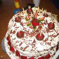 Tripple Chocolate Fudge Cake This was for my niece on her 21st birthday, who wanted something similar to a black forrest cake, but with strawberries. This cake had 4...