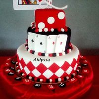 Casino All fondant, adornments gumpaste